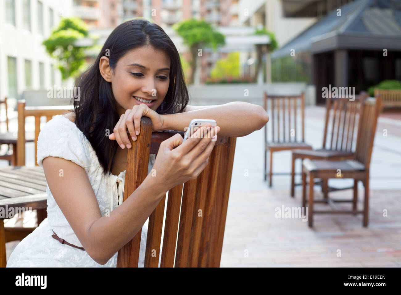 Browsing text messages - Stock Image