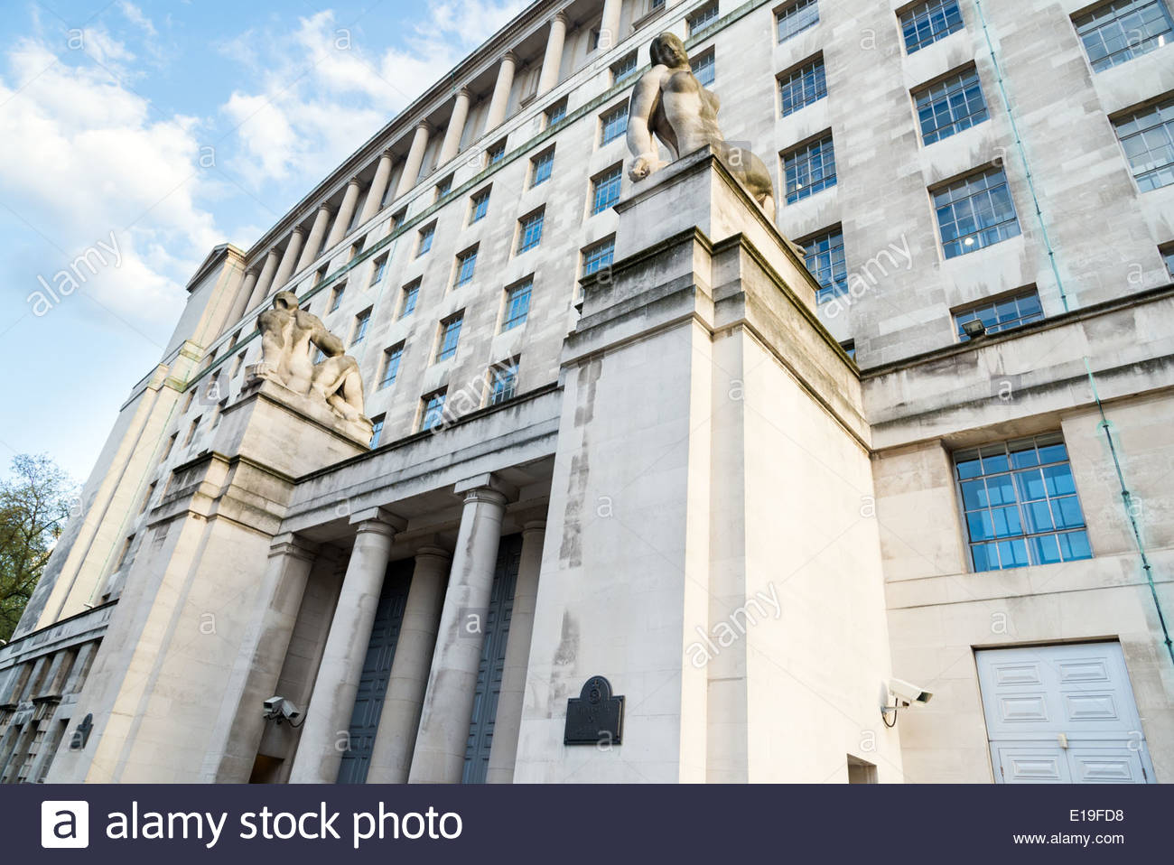 Ministry of Defence building, Whitehall, London, England, UK - Stock Image