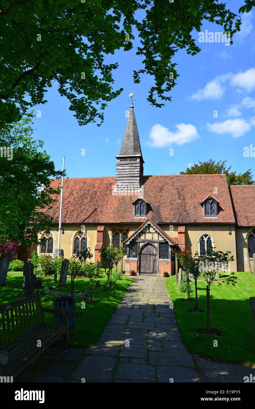 St Giles' Church, Ickenham, London Borough of Hillingdon, Greater London, England, United Kingdom - Stock Image