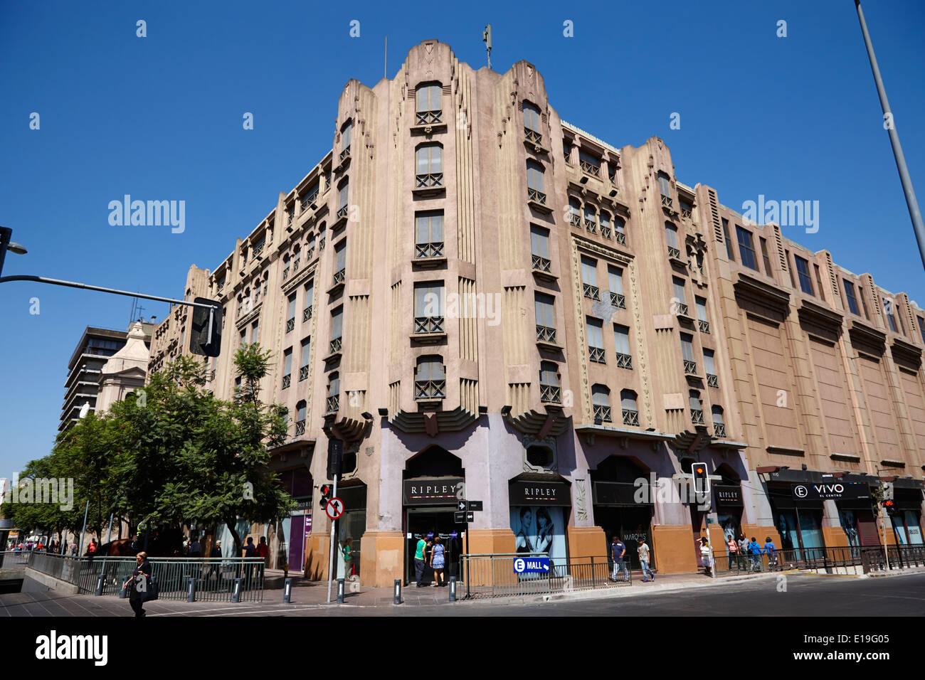 ripley department store in vivo el centro mall downtown Santiago Chile Stock Photo