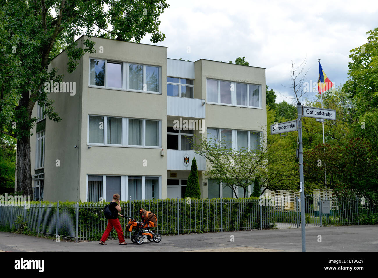 Botschaft Republik Moldau, Stavangerstrasse, Pankow, Berlin, Deutschland - Stock Image