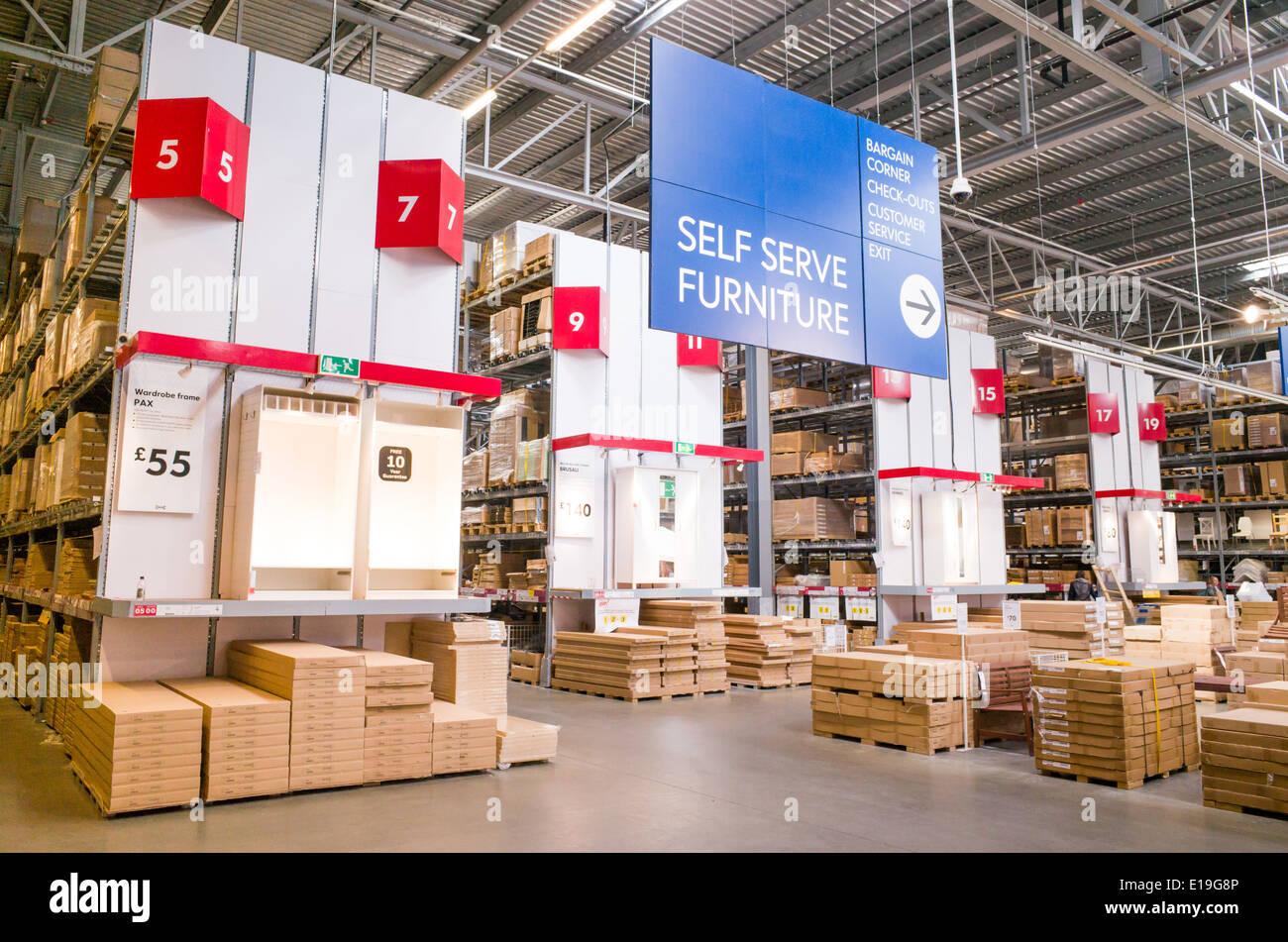 Stupendous Warehouse Area Of Ikea Furniture Store England Uk Stock Home Interior And Landscaping Ologienasavecom