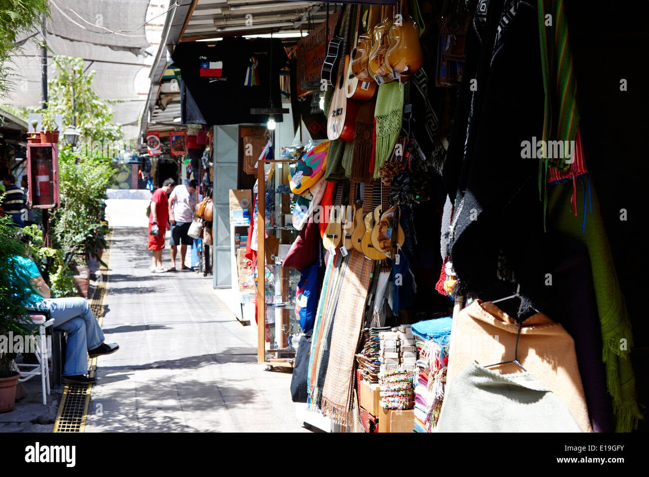 santa lucia arts and crafts market fair Santiago Chile - Stock Image