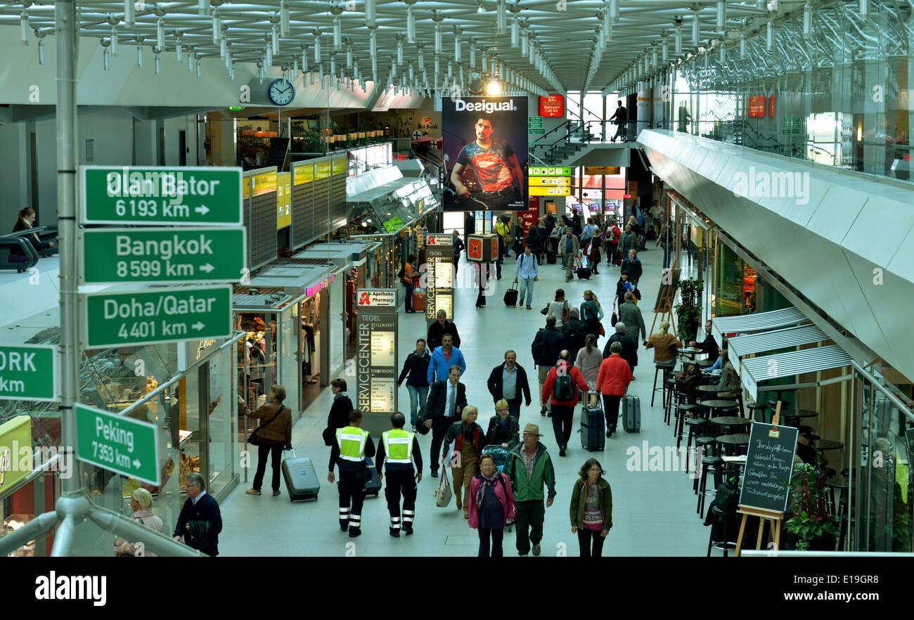 Haupthalle, Flughafen Tegel, Berlin, Deutschland - Stock Image