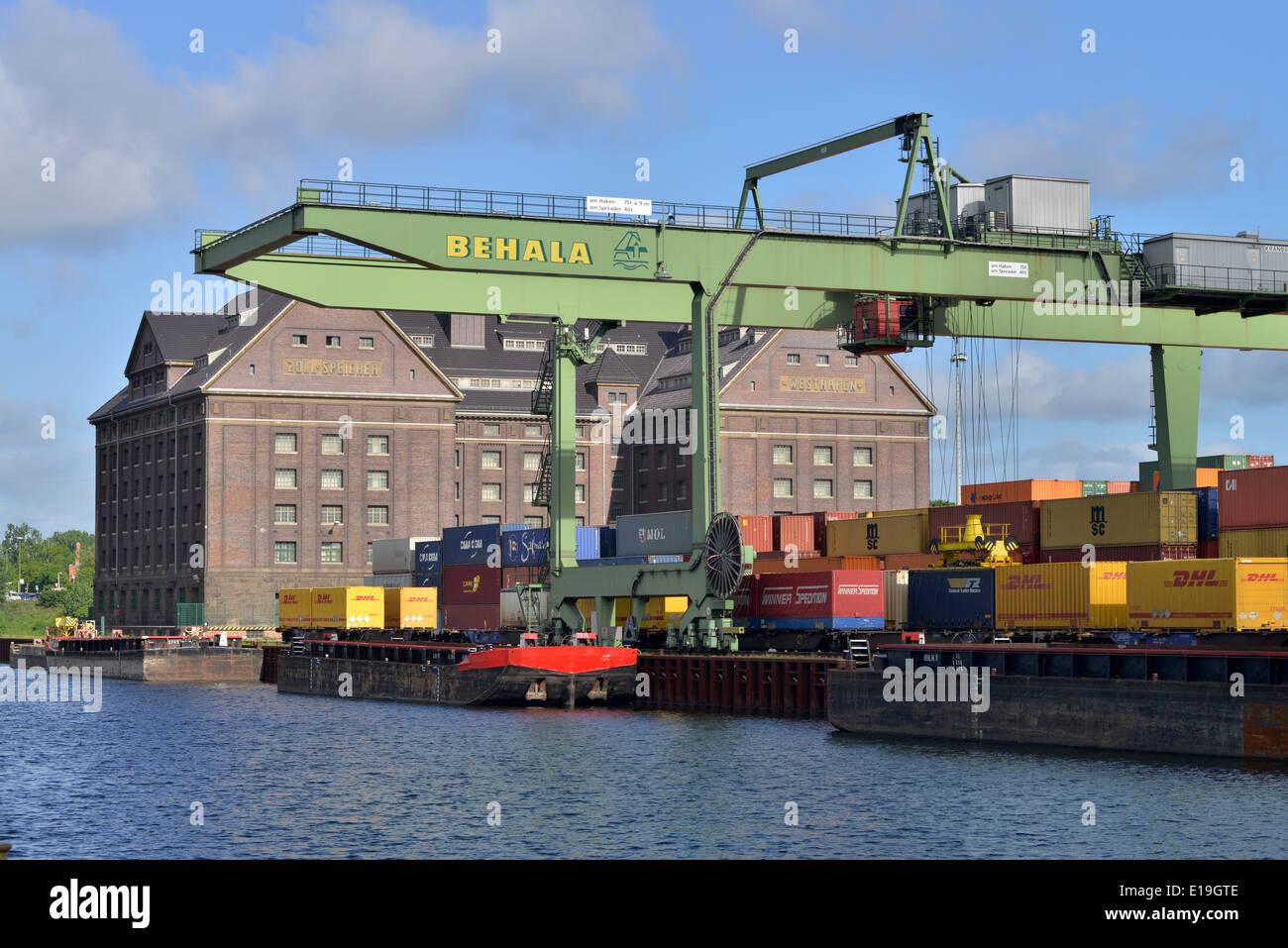 Behala, Westhafen, Berlin, Deutschland - Stock Image