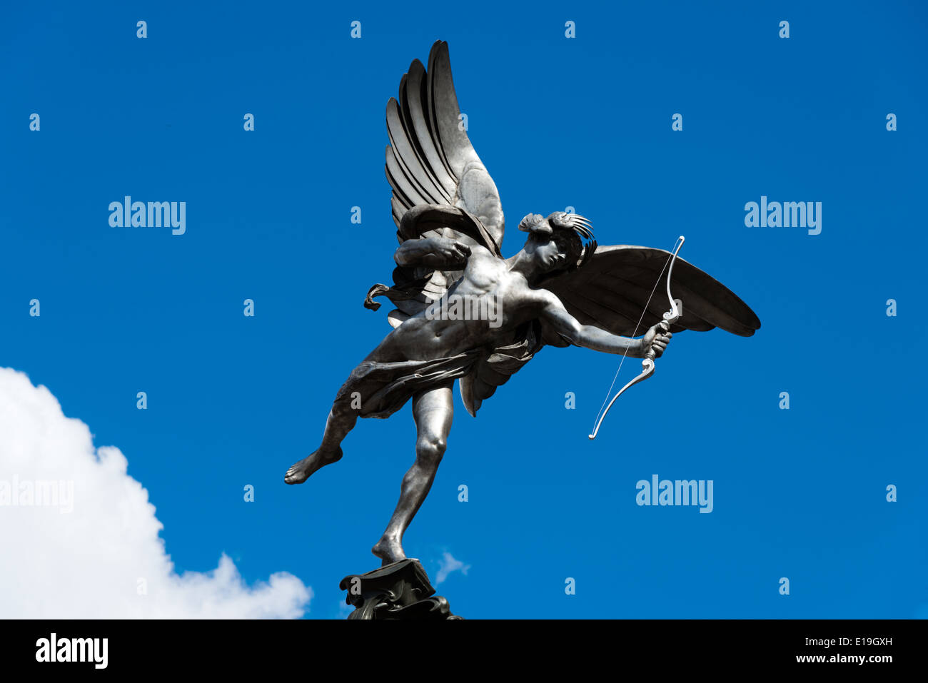 Eros statue, Piccadilly Circus, London, England, UK - Stock Image