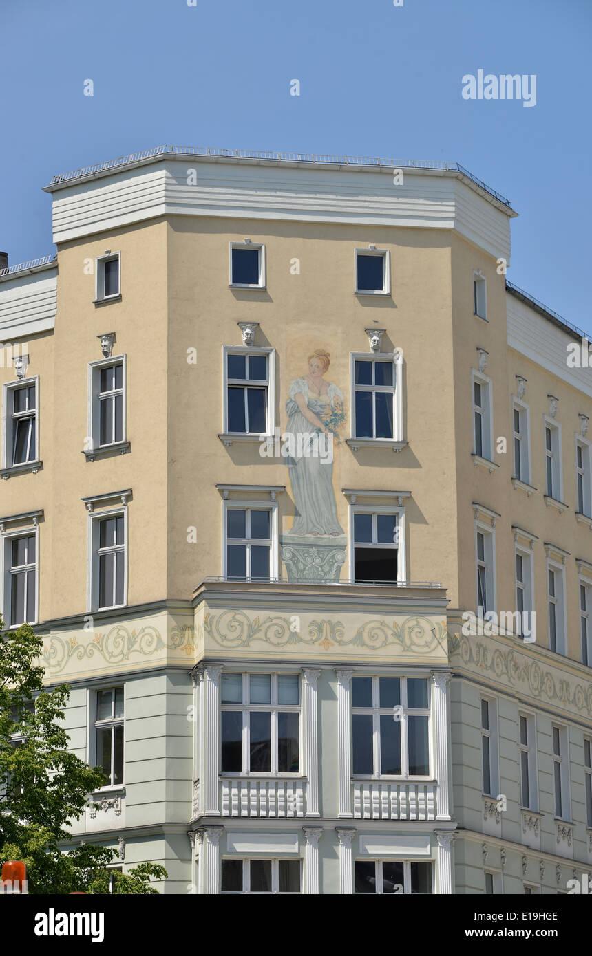 Altbau, Linienstrasse, Kleine Hamburger Strasse, Mitte, Berlin, Deutschland - Stock Image