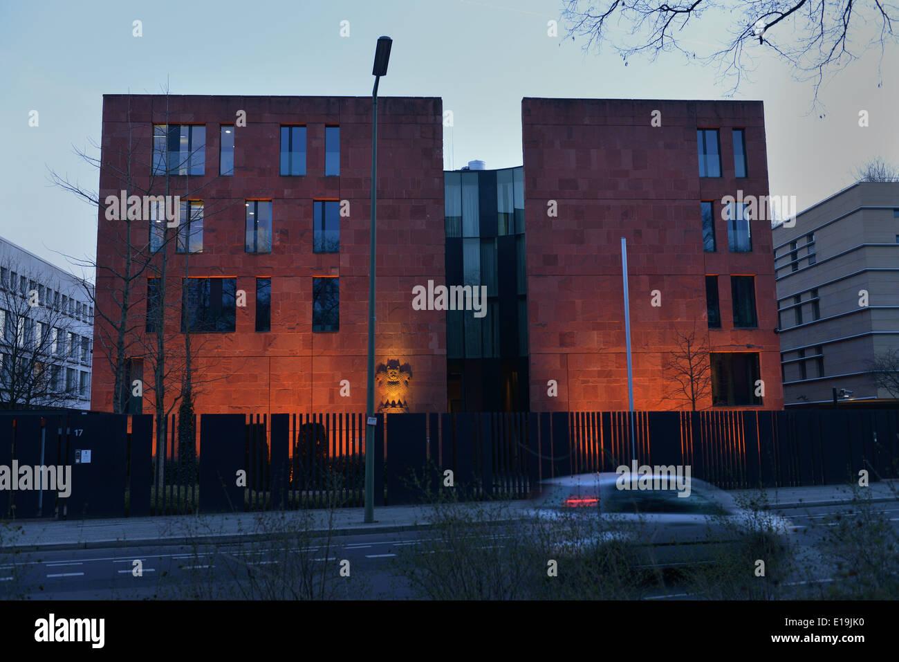 Botschaft Indien,Tiergartenstrasse, Tiergarten, Berlin, Deutschland Stock Photo