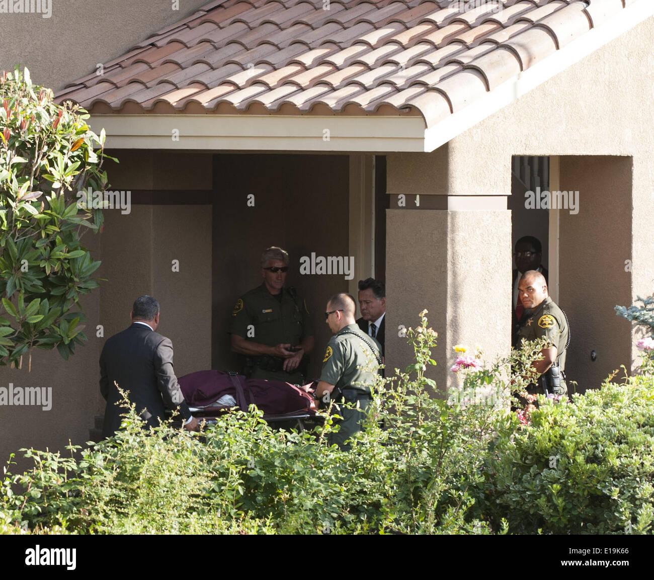 Orange County Coroner Crime Scene Stock Photos & Orange