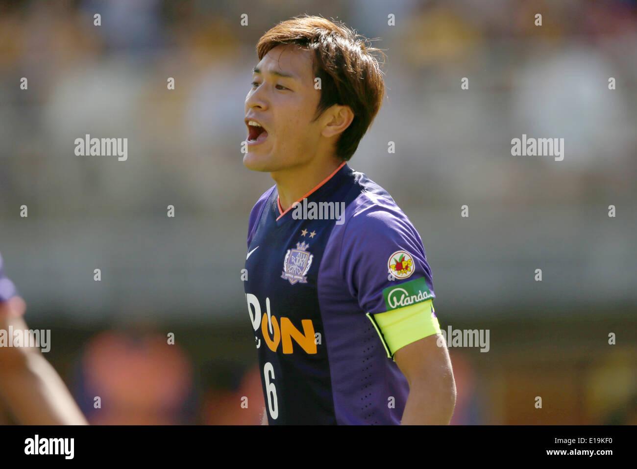 Toshihiro Aoyama (Sanfrecce), MAY18, 2014 - Football/Soccer : 2014 J.League Division 1, between Vegalta Sendai 1-0 Sanfrecce Hiroshima at Yurtec Stadium Sendai, Miyagi, Japan. © Jun Tsukida/AFLO SPORT/Alamy Live News - Stock Image