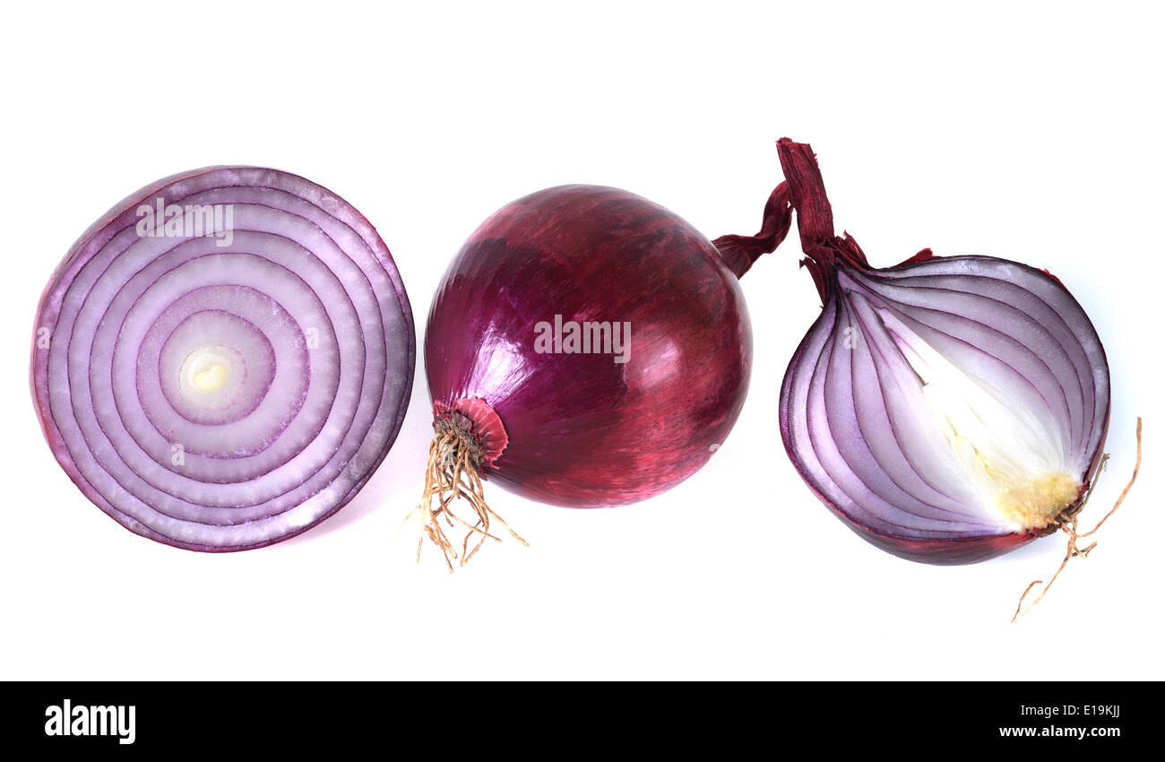 Rote Zwiebeln - Stock Image