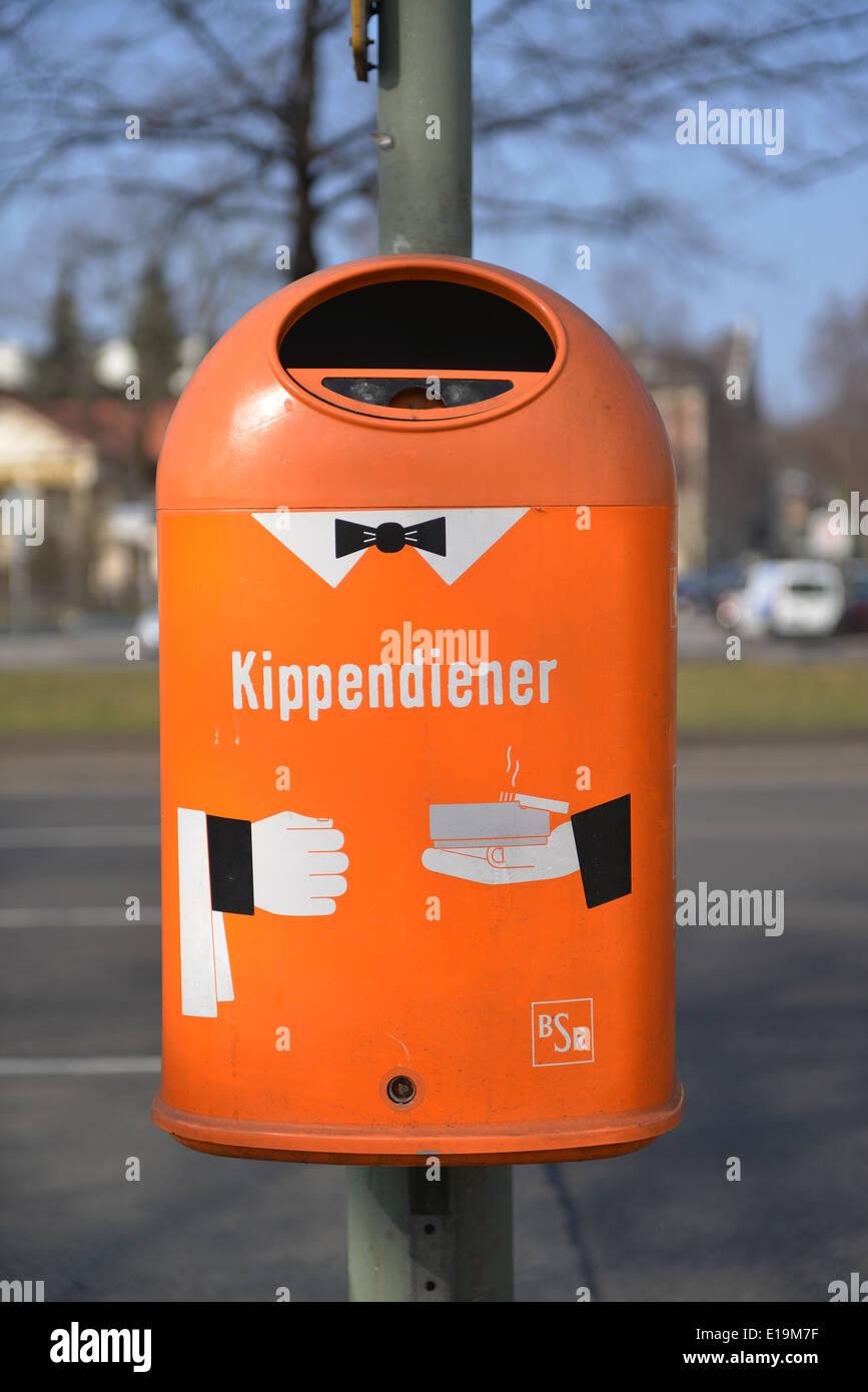 Papierkorb, Steglitz, Berlin, Deutschland Stock Photo