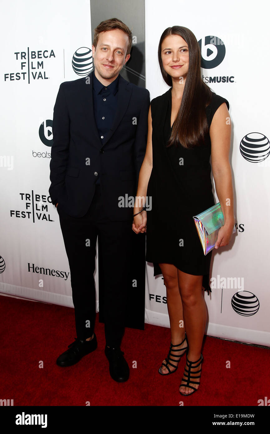 Cinematographer Frank Larson (L) and Brianna Myers attend the world premiere of 'Time Is Illmatic'. - Stock Image
