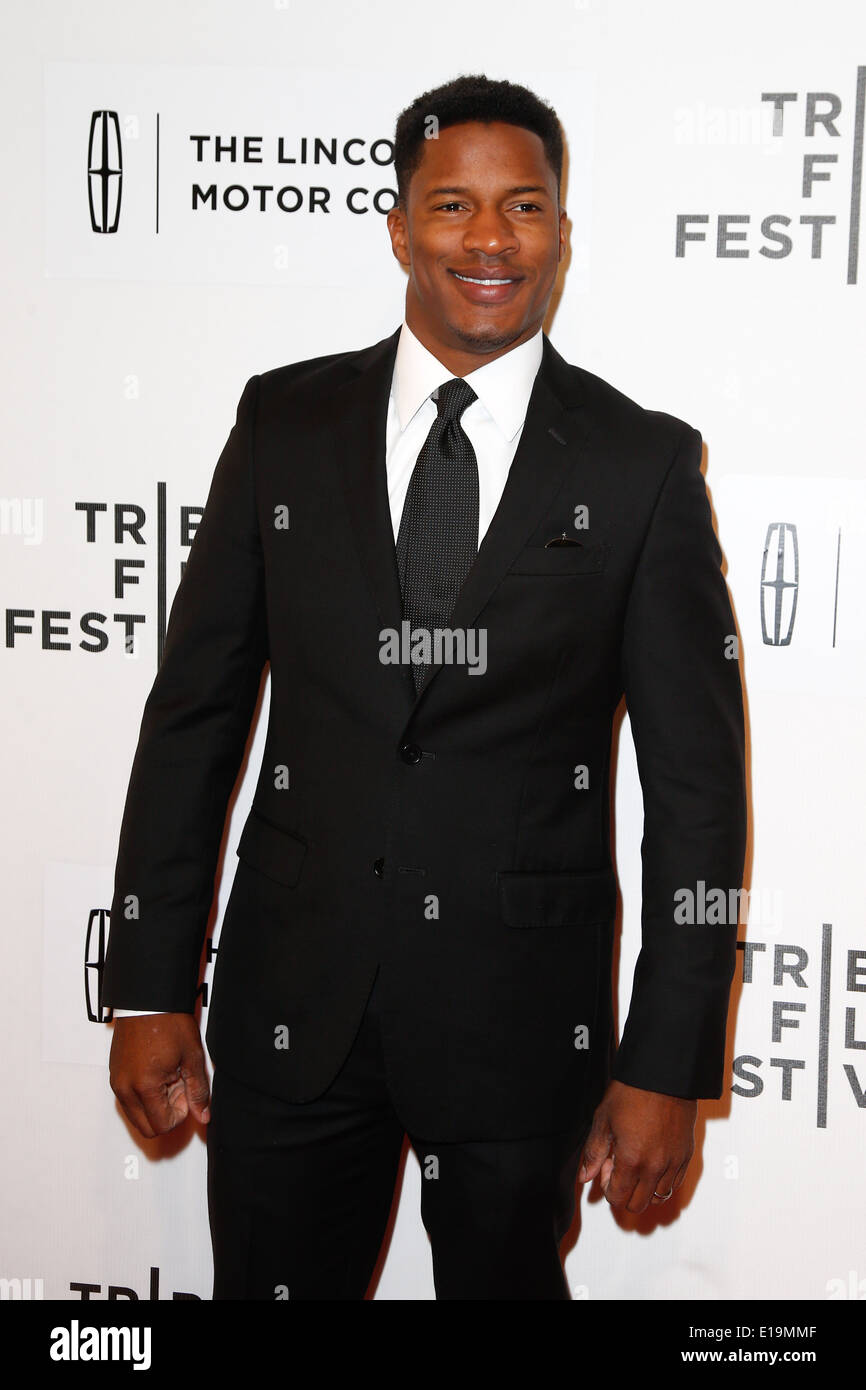 Actor Nate Parker attends the 'Every Secret Thing' premiere at the BMCC TriBeCa PAC during the 2014 TriBeCa Film Festival. - Stock Image