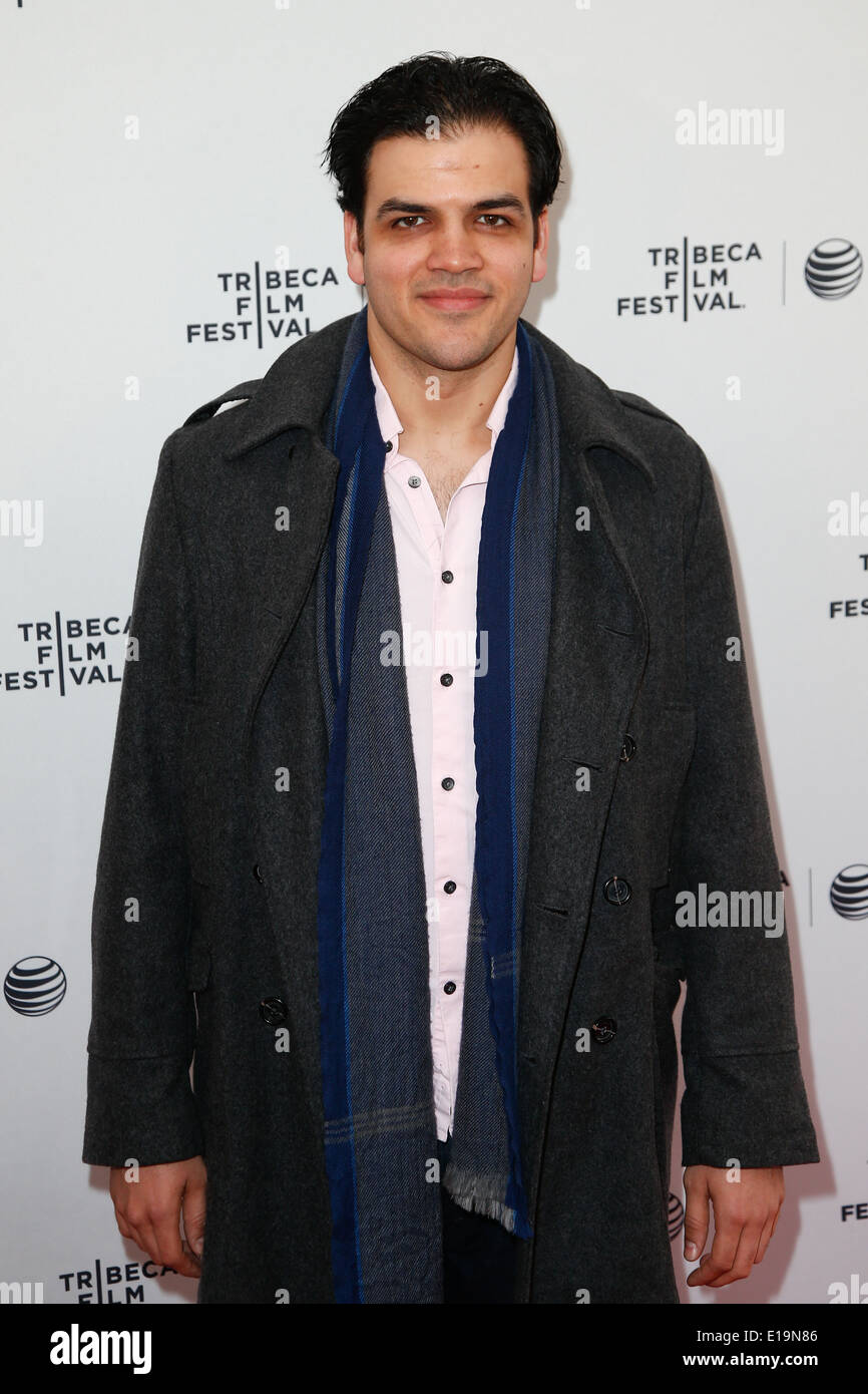 Actor AJ Meijer attends the 'Life Partners' premiere at the SVA Theatre during the 2014 TriBeCa Film Festival. - Stock Image