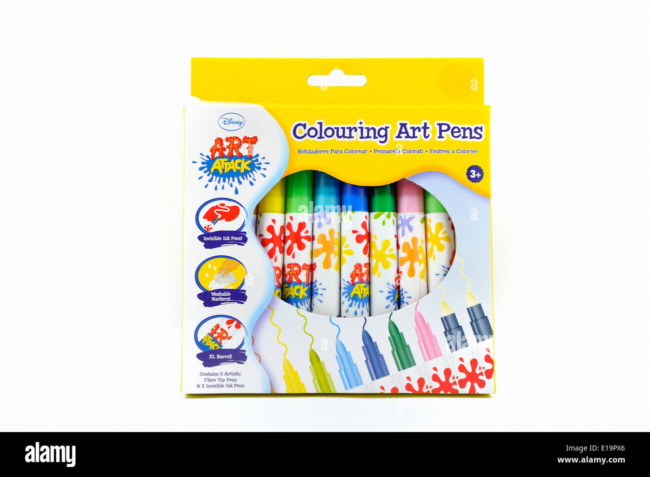a box of art attack coloring pens stock photo 69671678 alamy