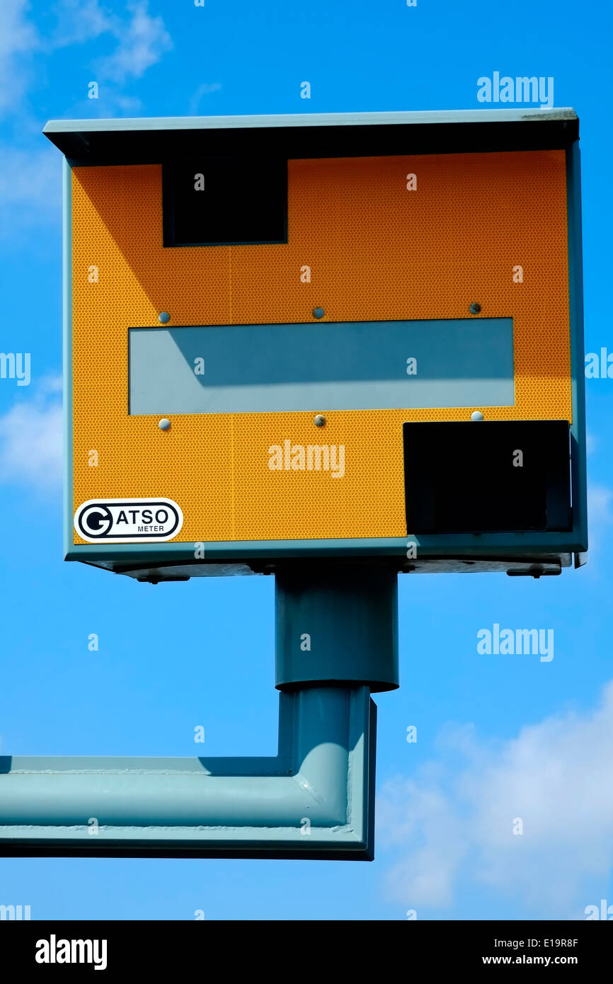 Gatso meter speed camera - Stock Image