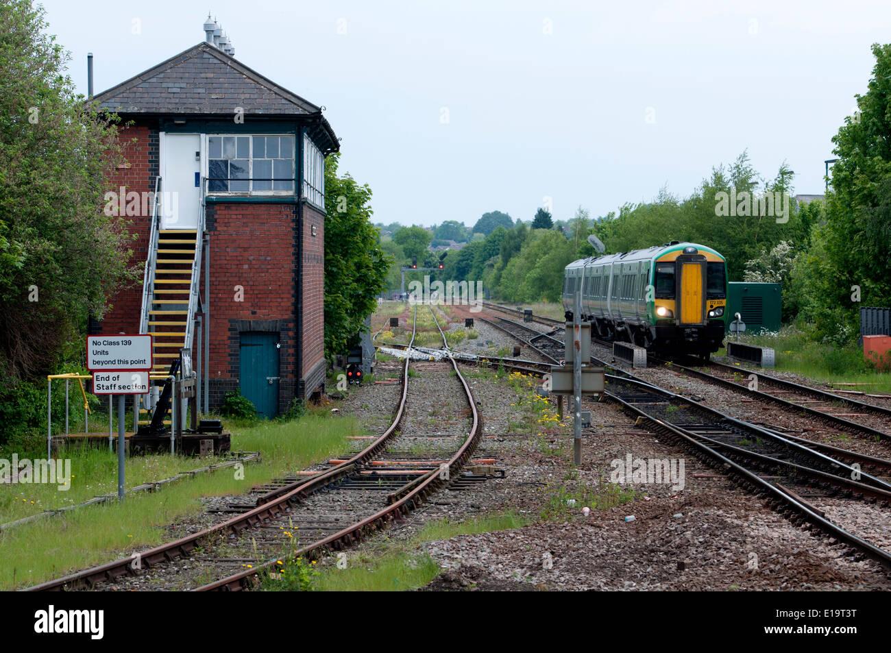 London Midland class 172 diesel multiple unit train at Stourbridge Junction, West Midlands, England, UK - Stock Image