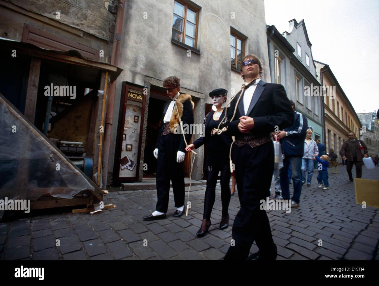 Tabor Czech Republic Street Mime Artistes - Stock Image