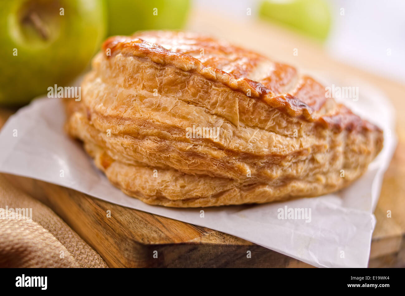 A freshly baked apple turnover. - Stock Image