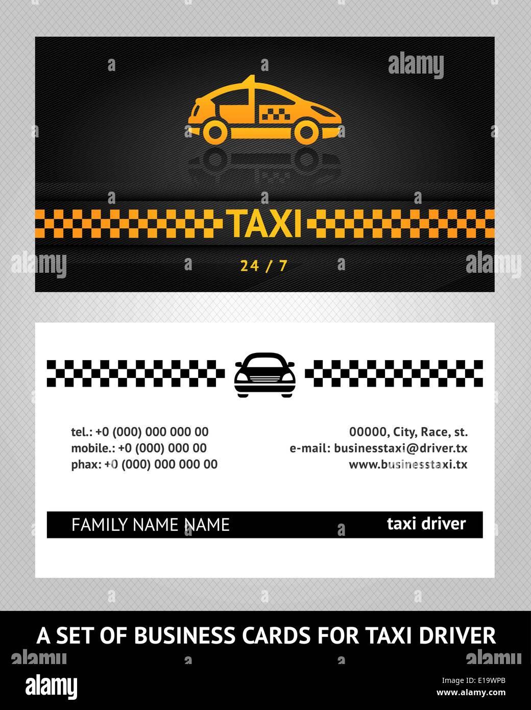 Business cards taxi cab vector template 10eps stock vector art business cards taxi cab vector template 10eps colourmoves