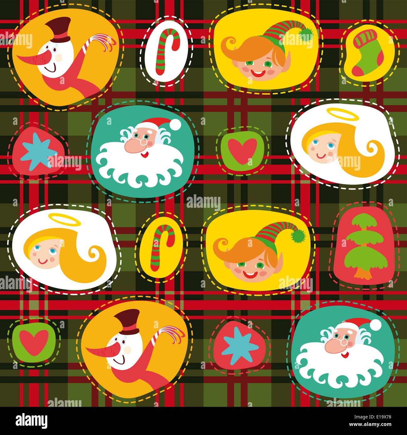 Christmas tartan, plaid pattern vector background, wrapping paper Stock Vector