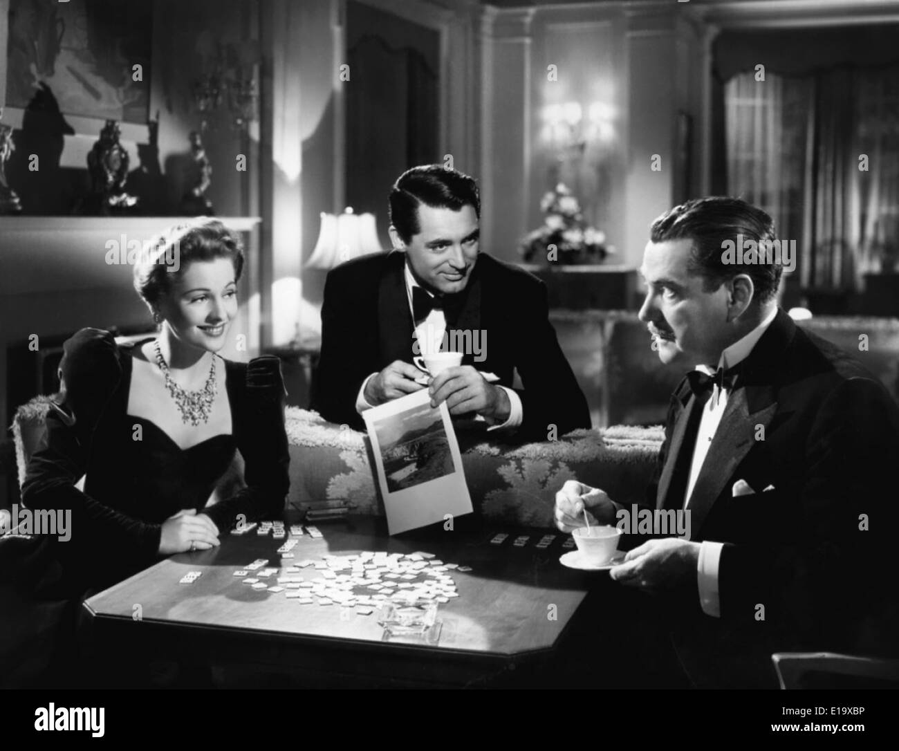 Suspicion - Cary Grant Joan Fontaine Nigel Bruce - Director : Alfred Hitchcock - 1941 - RKO Radio Pictures - Stock Image