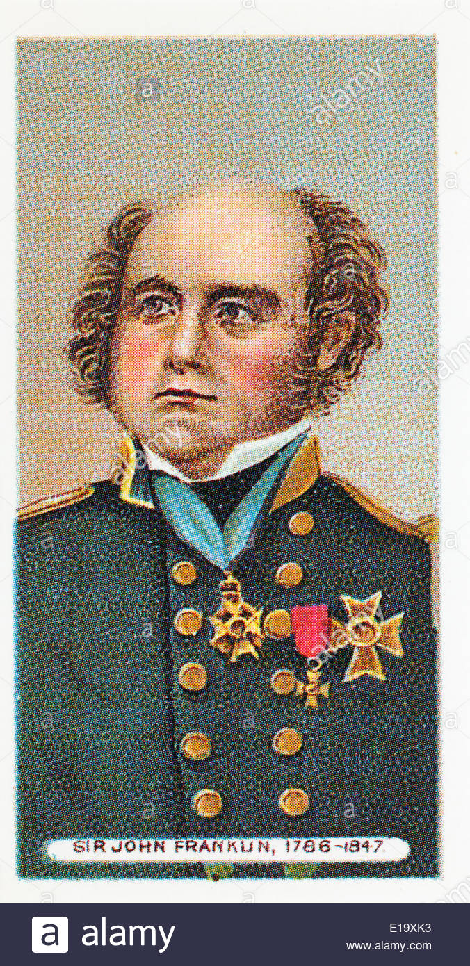 Wills cigarette card Sir John Franklin 1786-1847. EDITORIAL ONLY - Stock Image