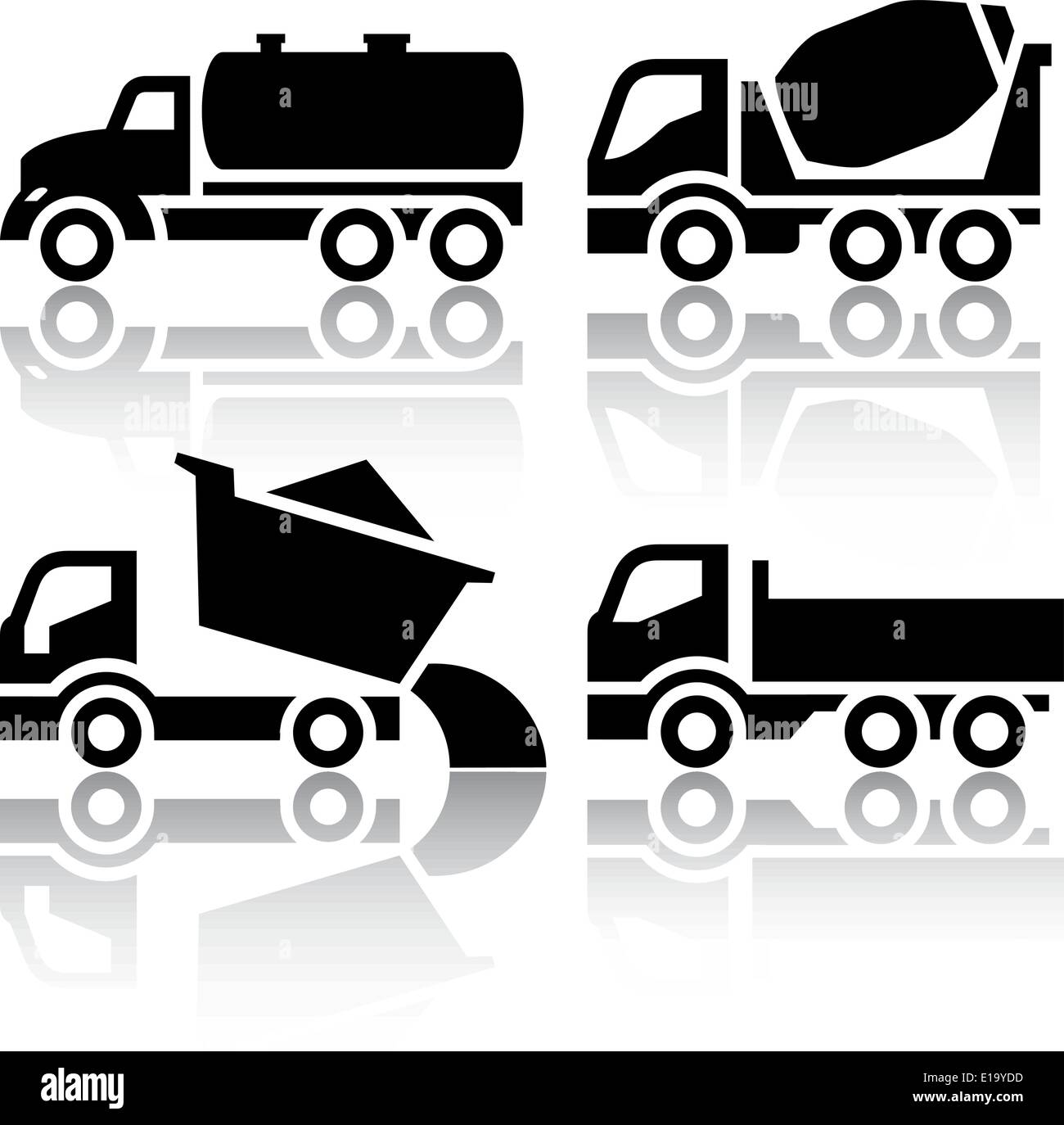 Concrete Mixer Truck Cut Out Stock Images & Pictures - Alamy