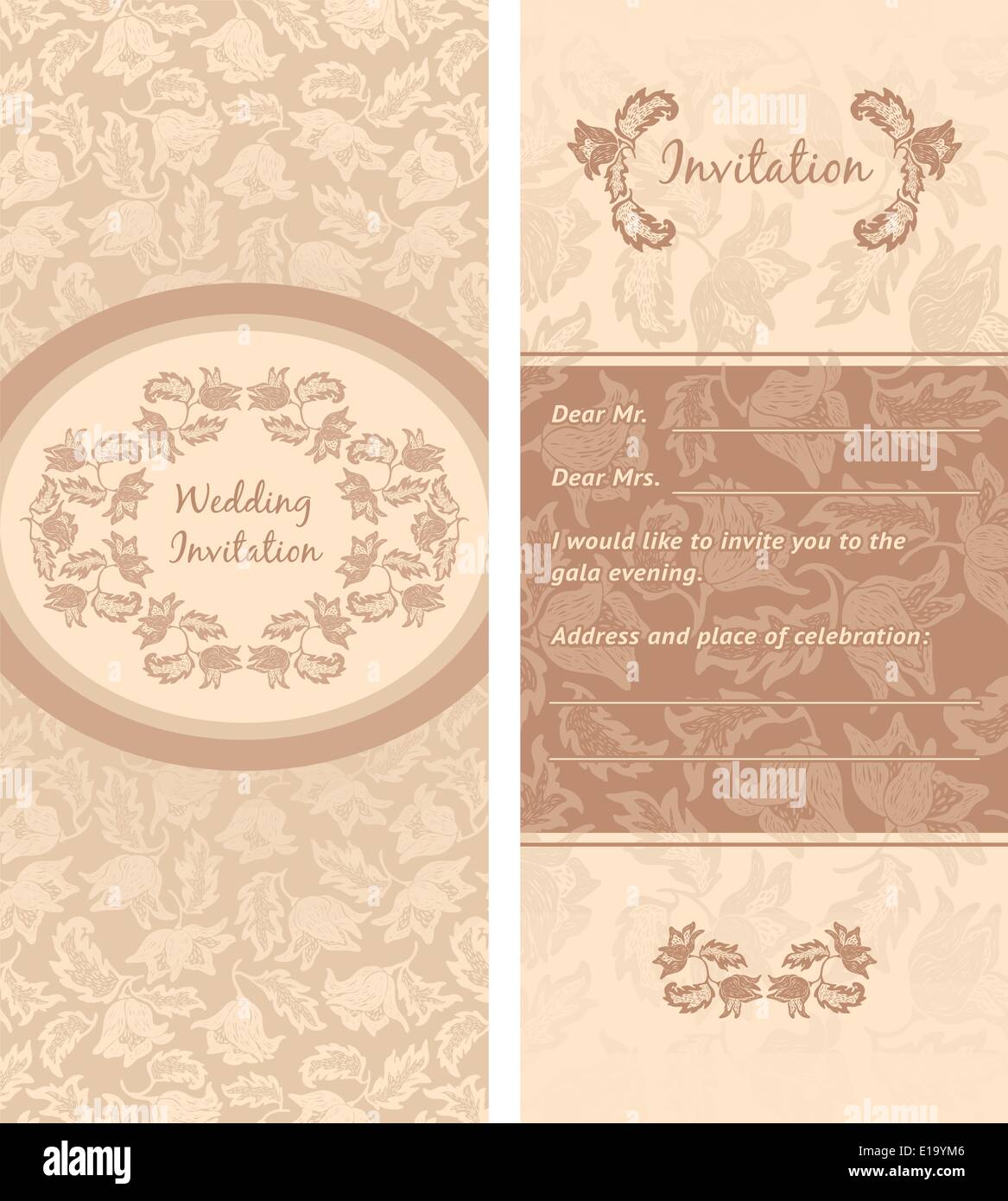 Invitation Card Greeting Background Can Be Used For