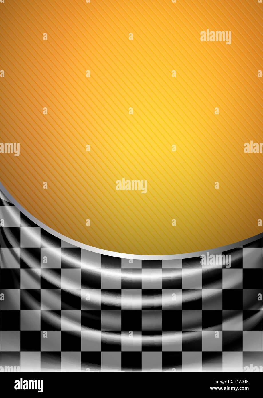 Silk tissue in checkered on a yellow background, vector illustration eps10 - Stock Vector