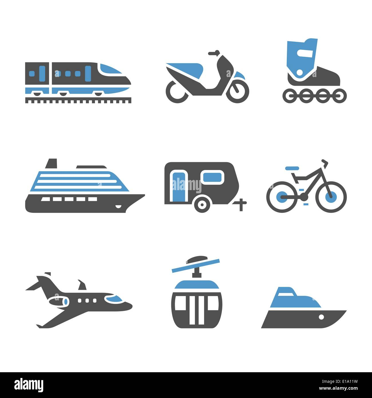 Transport pictograms - A set of fifth - Stock Image