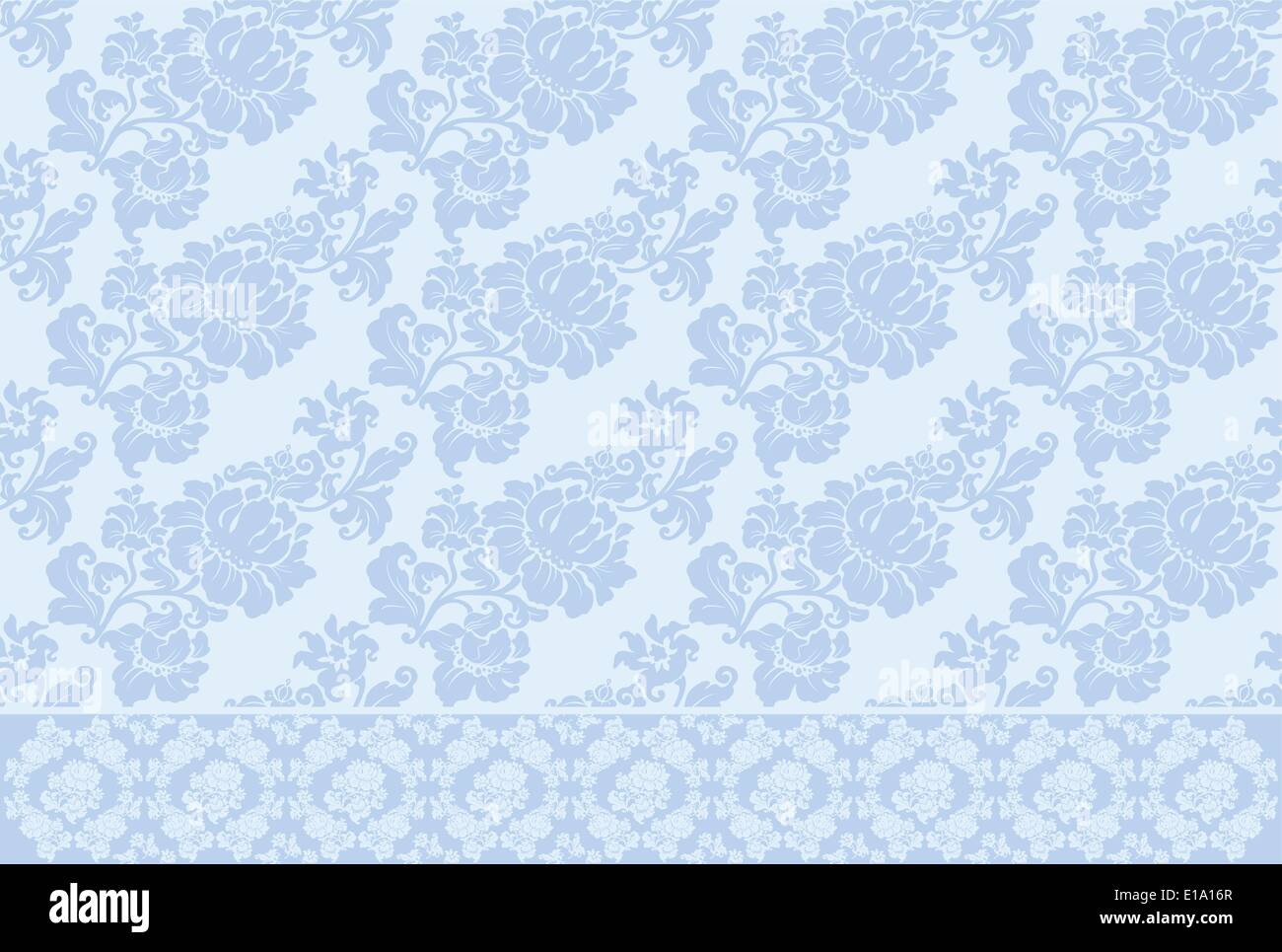 ornament background old vector blue - Stock Vector