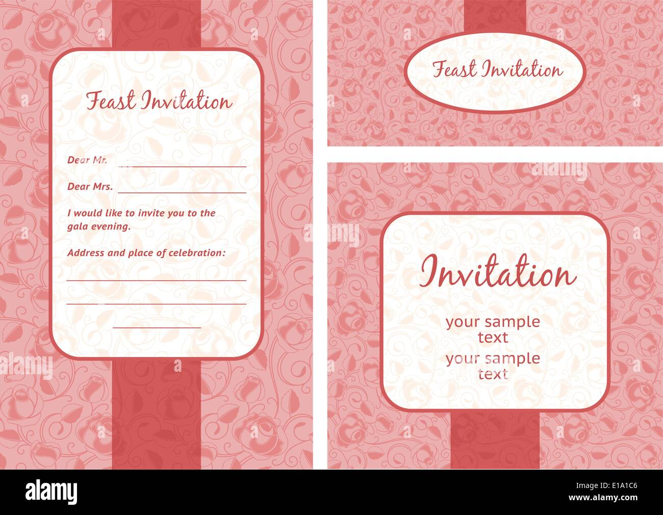 Wedding invitation template set of ornate vector frames stock wedding invitation template set of ornate vector frames stopboris Gallery