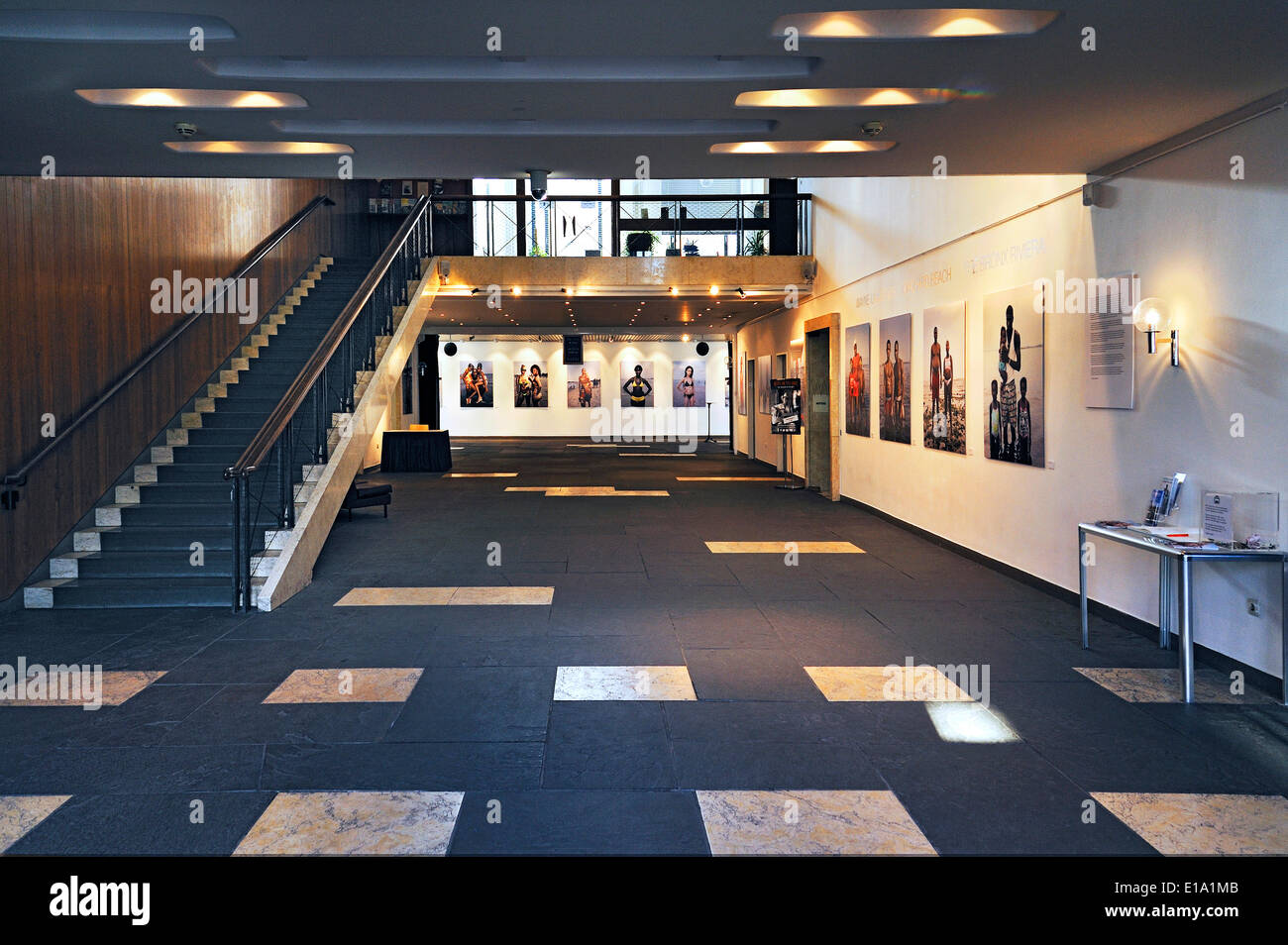 Exhibition of photographs by Wayne Lawrence, foyer of the America House in Munich, Bavaria, Germany - Stock Image