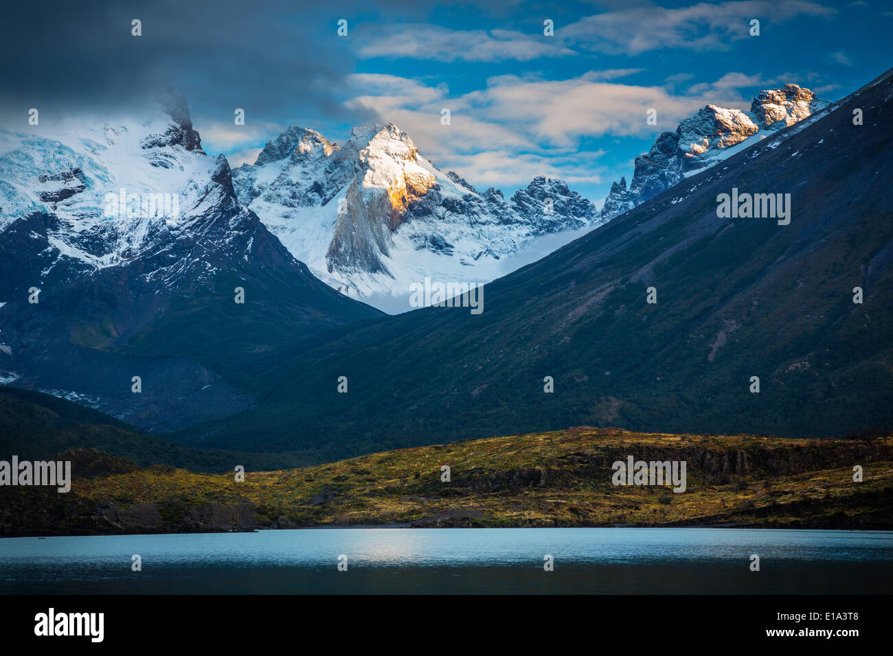 Torres del Paine National Park is a national park  in southern Chilean Patagonia - Stock Image