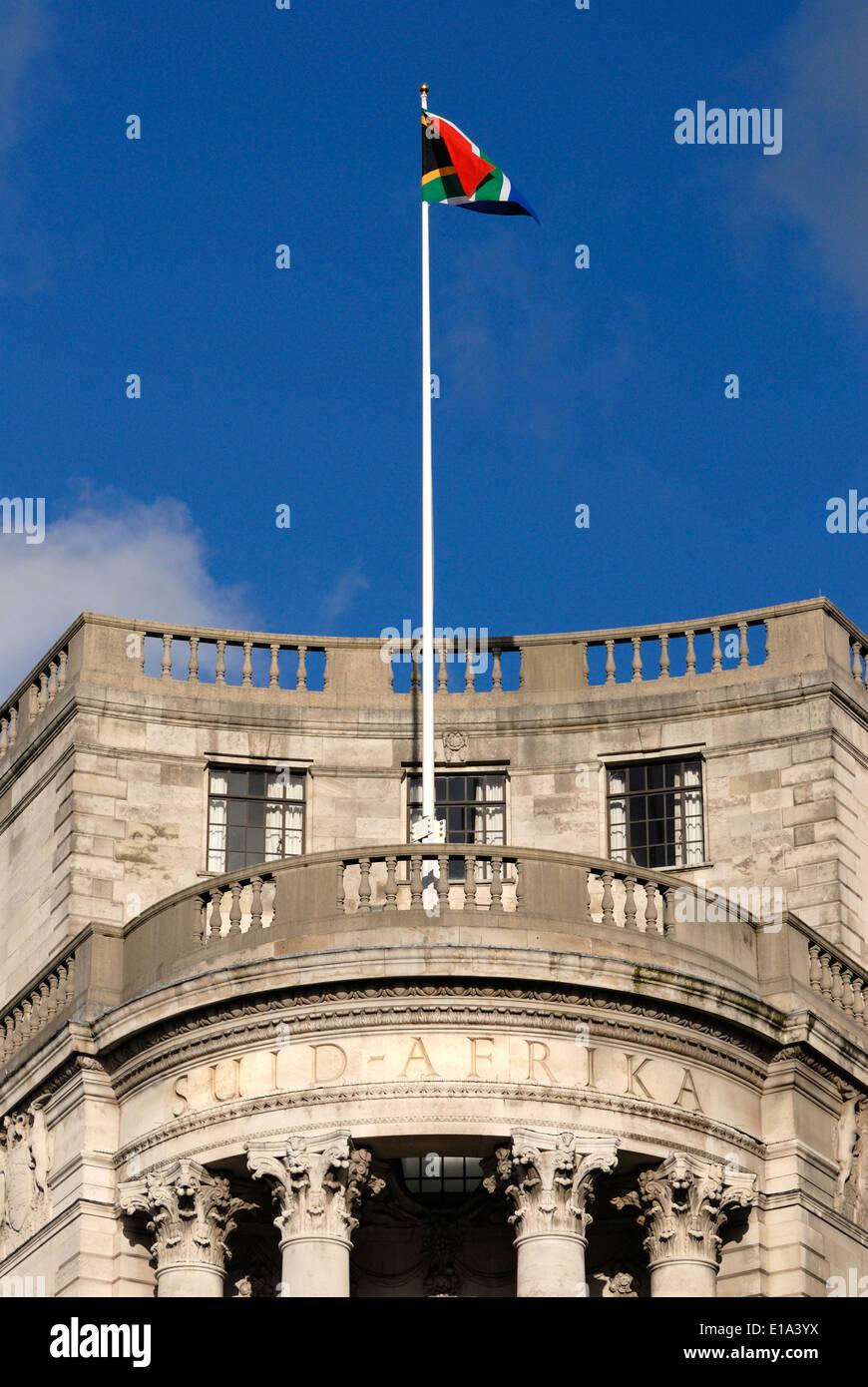 London, England, UK. South Africa House in Trafalgar Square - Stock Image