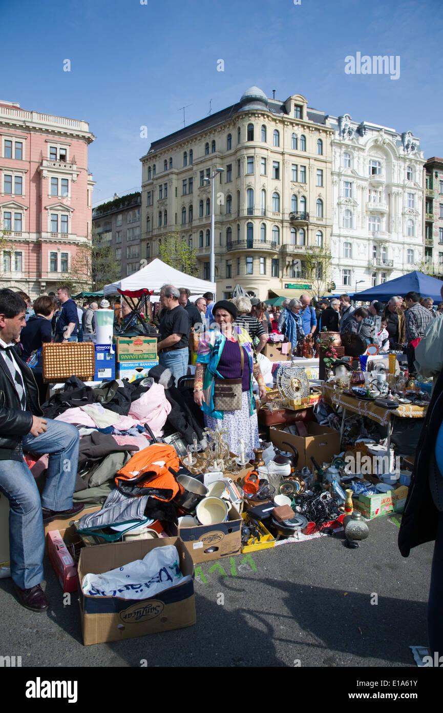 flea market on the vienna Naschmarket, Austria Stock Photo
