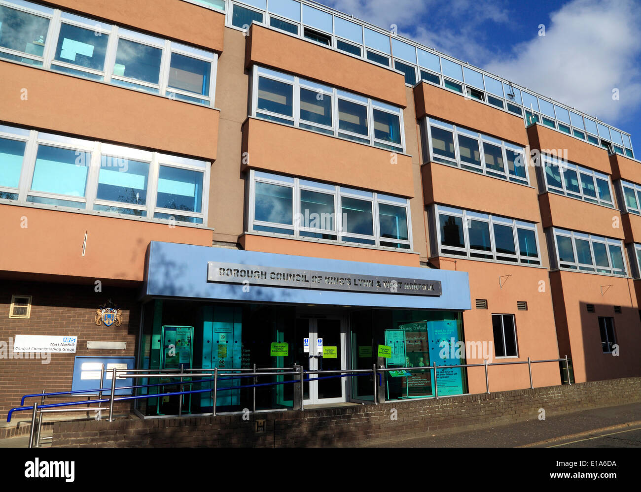 Borough Council of Kings Lynn and West Norfolk offices, English local government councils England UK office - Stock Image
