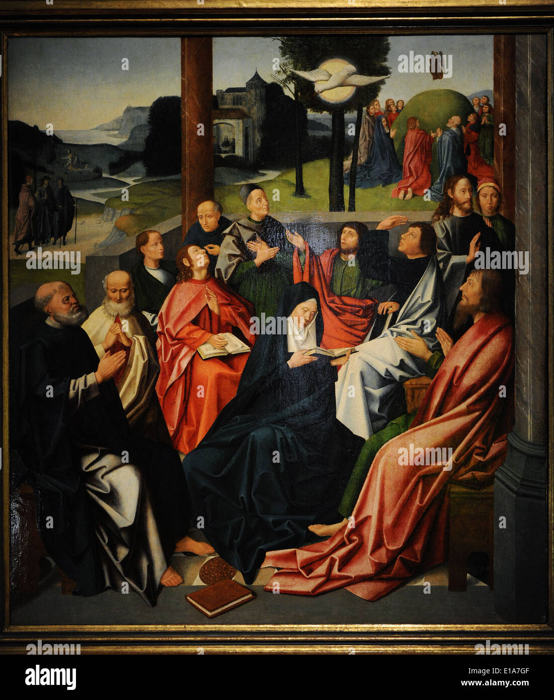 Descent of the Holy Spirit. Haarlem?. Late 15th century. Anonymous. Catharijneconvent Museum. Utrecht. Netherlands. - Stock Image