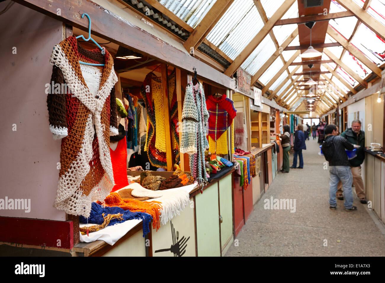 paseo de los artesanos handicrafts market Ushuaia Argentina - Stock Image