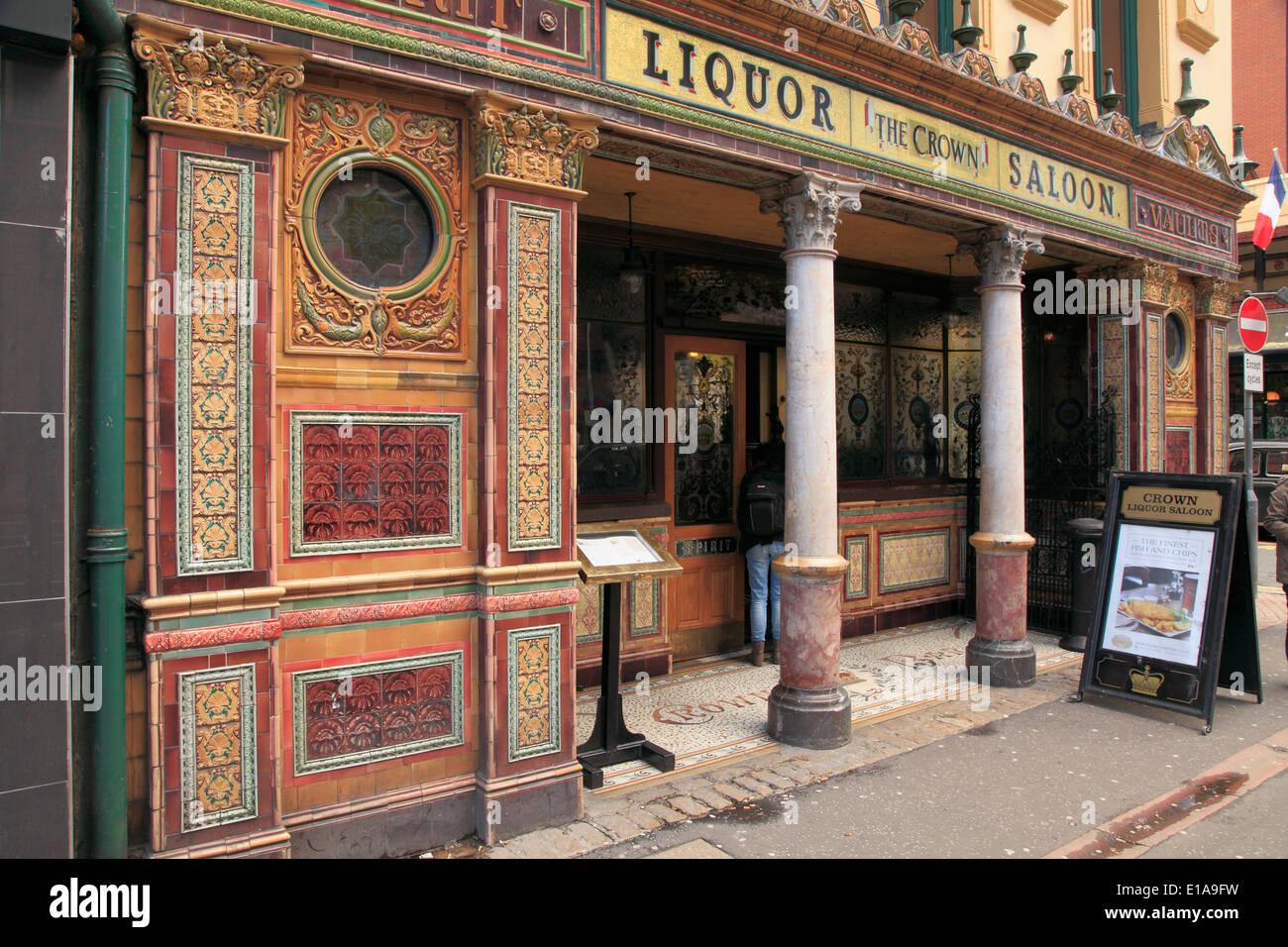UK, Northern Ireland, Belfast, The Crown Liquor Saloon, - Stock Image