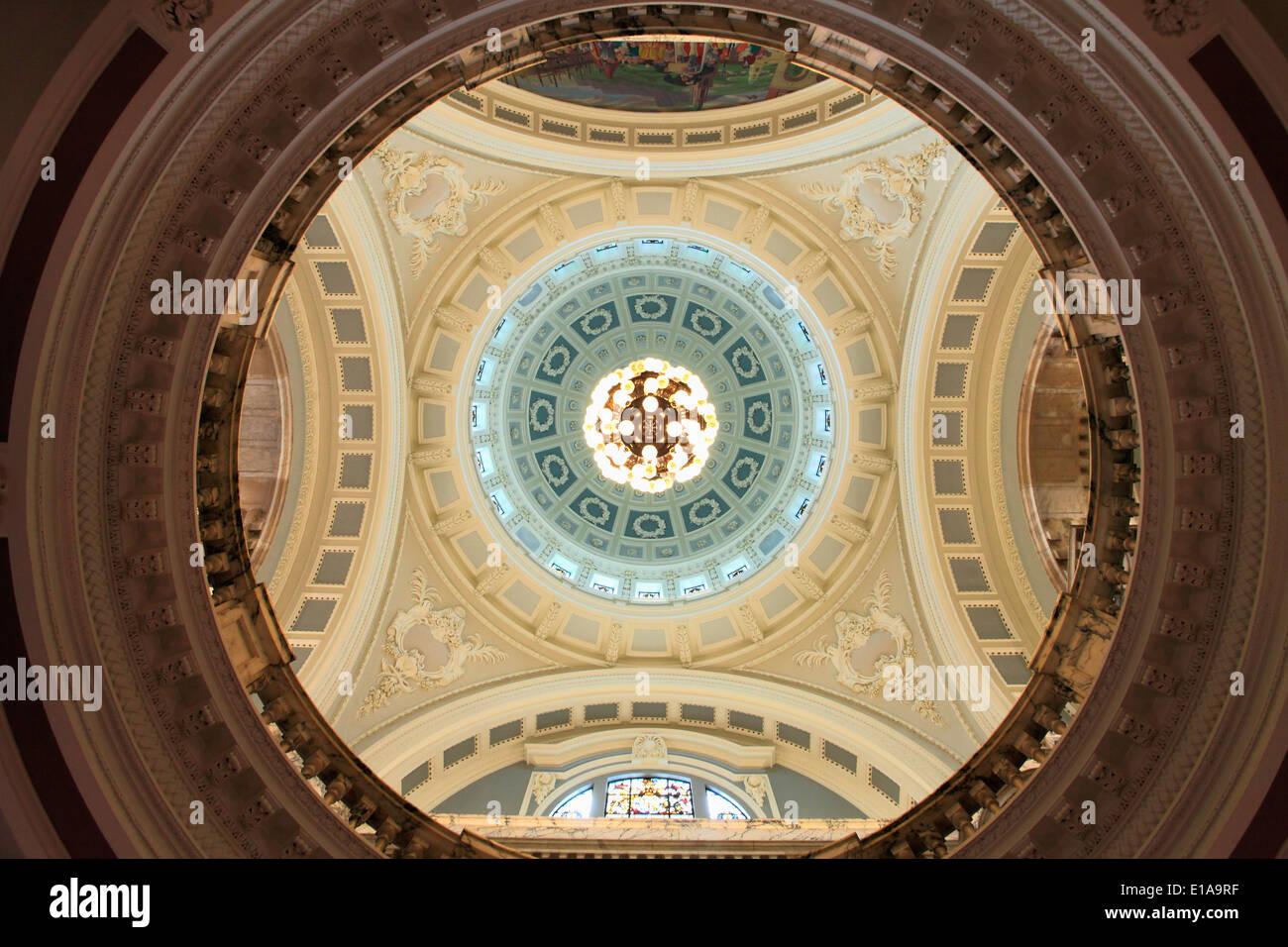 UK, Northern Ireland, Belfast, City Hall, interior, - Stock Image
