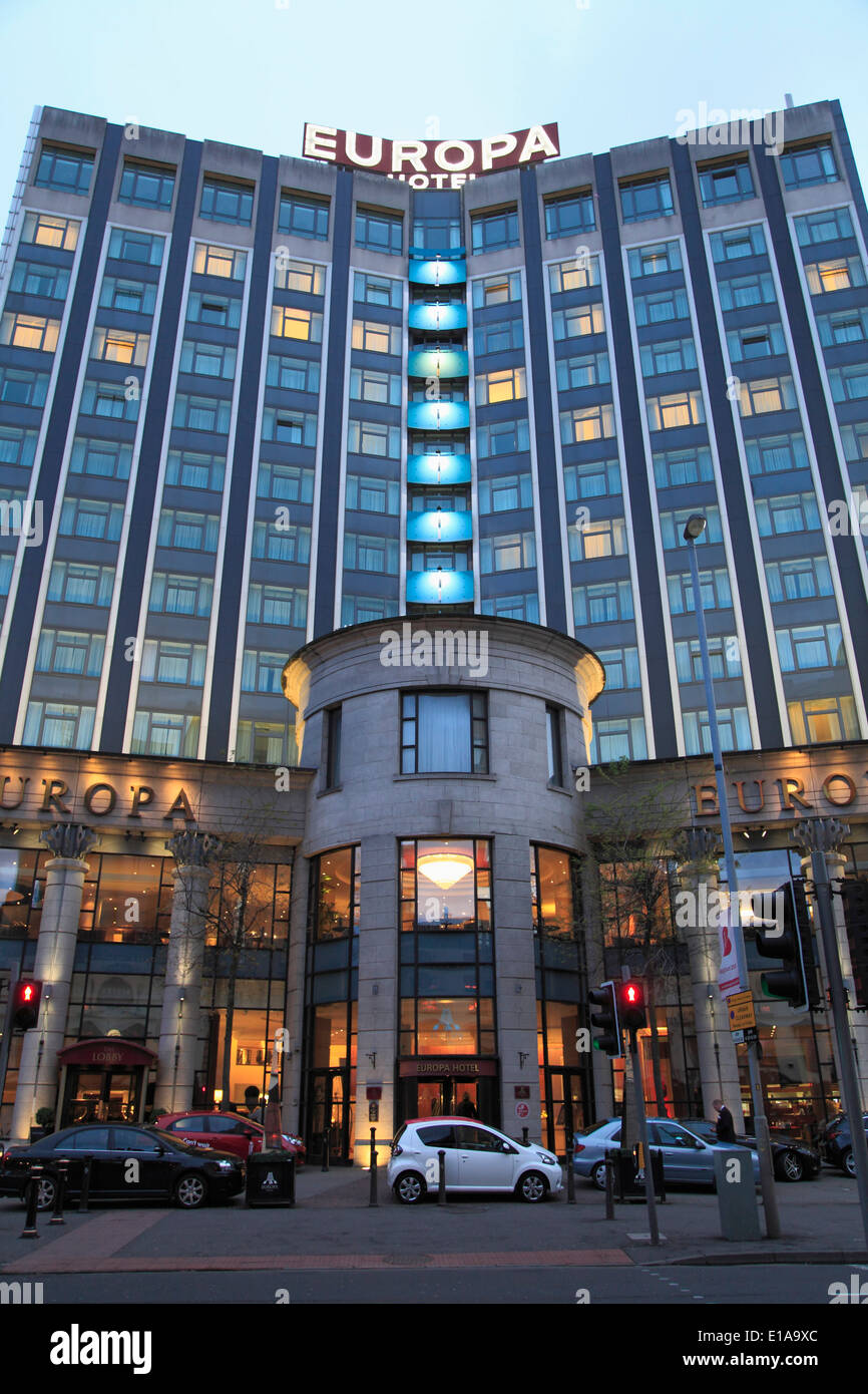 UK, Northern Ireland, Belfast, Hotel Europa, - Stock Image