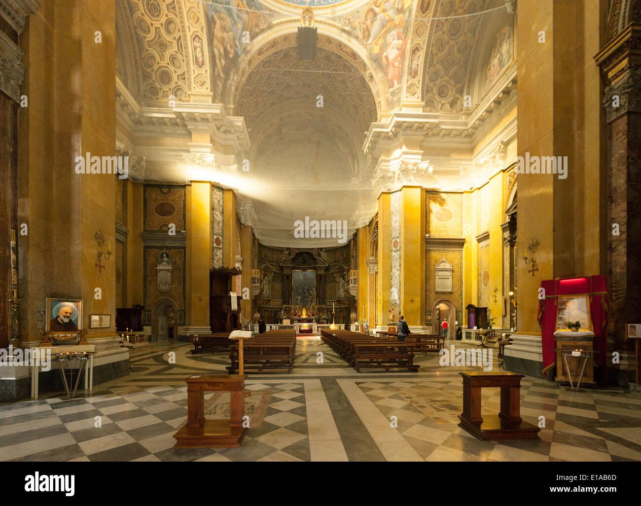 Interior of Santa Carlo Ai Catinari Church, Rome Italy, Europe - Stock Image