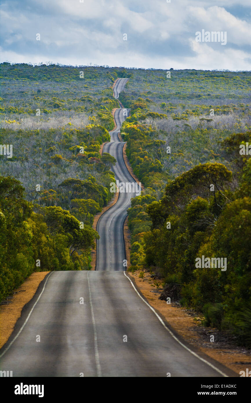 The road to Cape du Couedic, Flinders Chase National Park, Kangaroo Island, South Australia Stock Photo