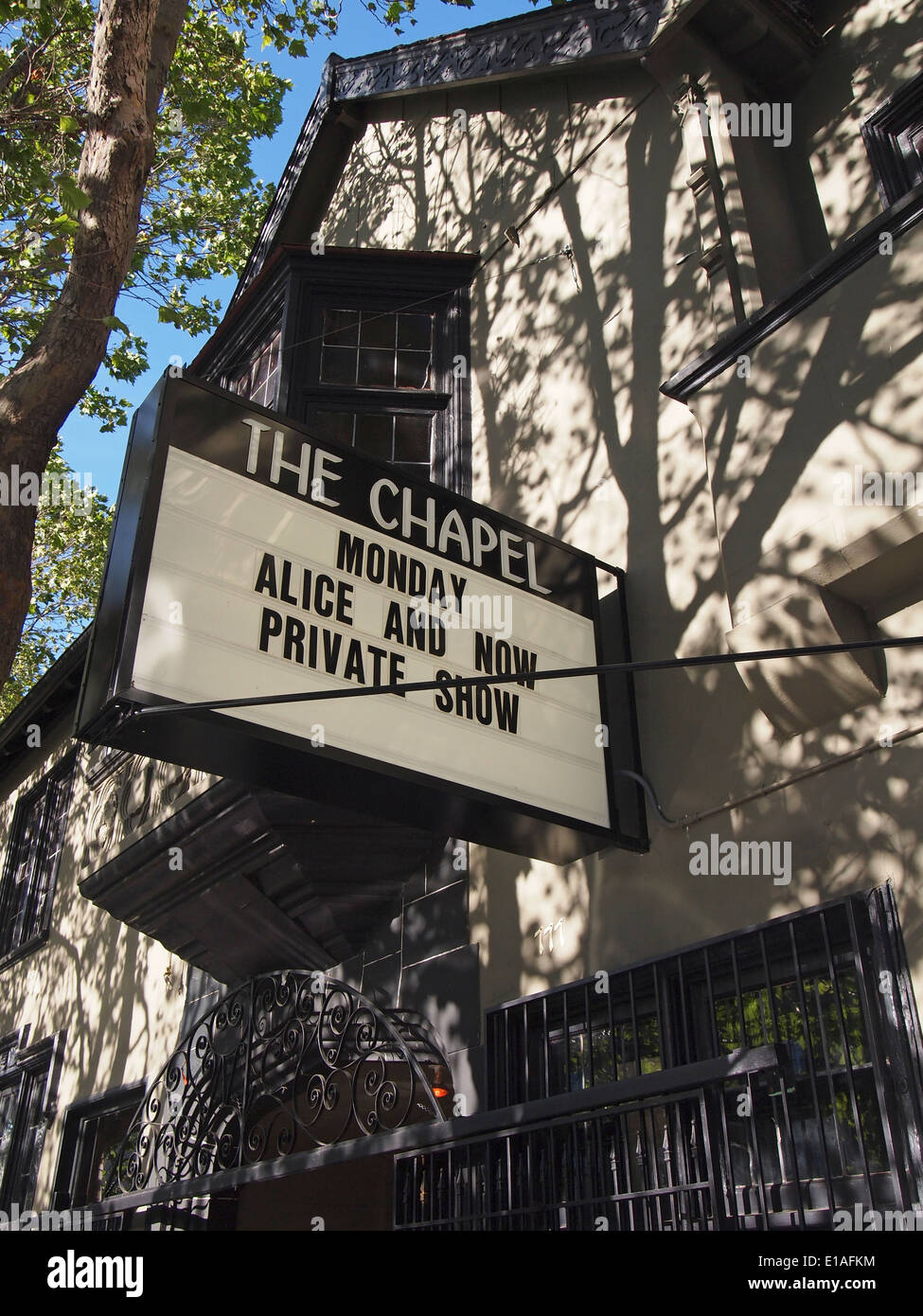 The Chapel live music venue in the Mission District of San Francisco - Stock Image