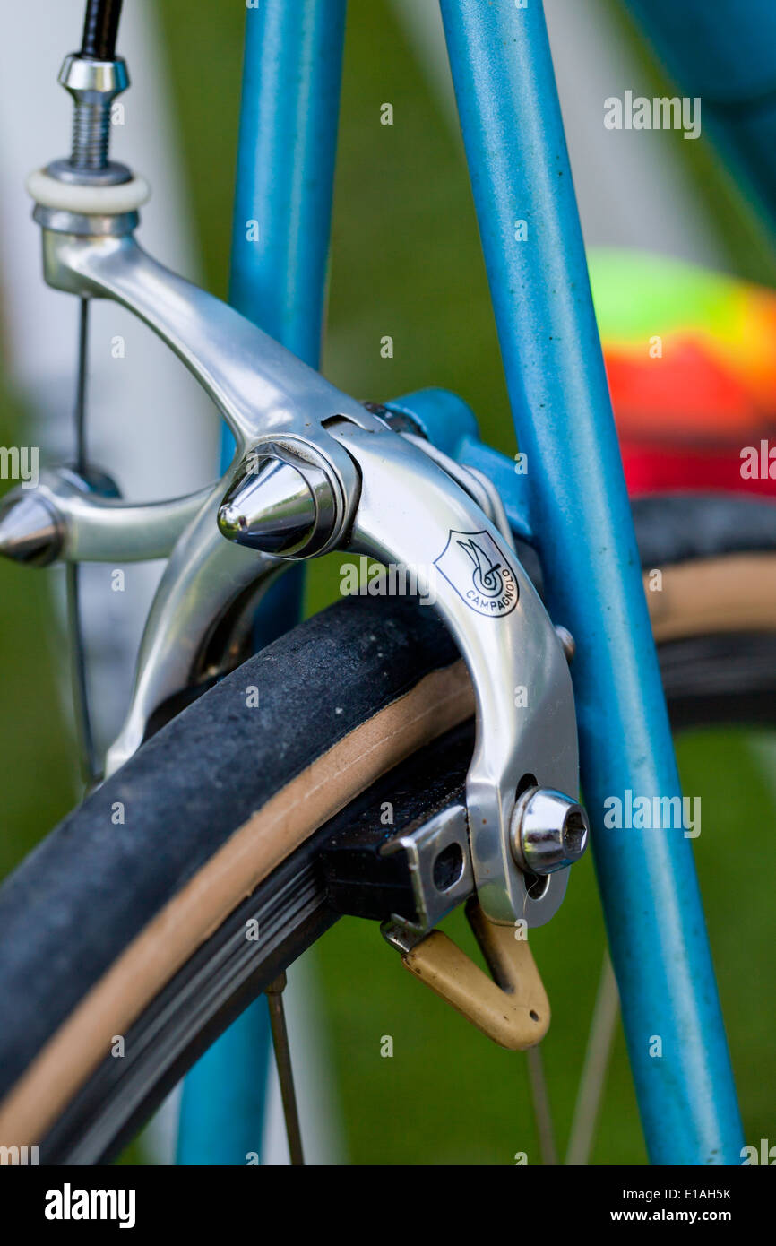 Campagnolo anodized aluminum bicycle brakes - Stock Image