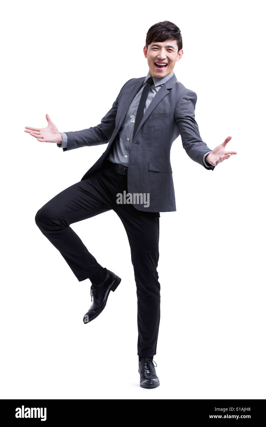 Cheerful young businessman - Stock Image