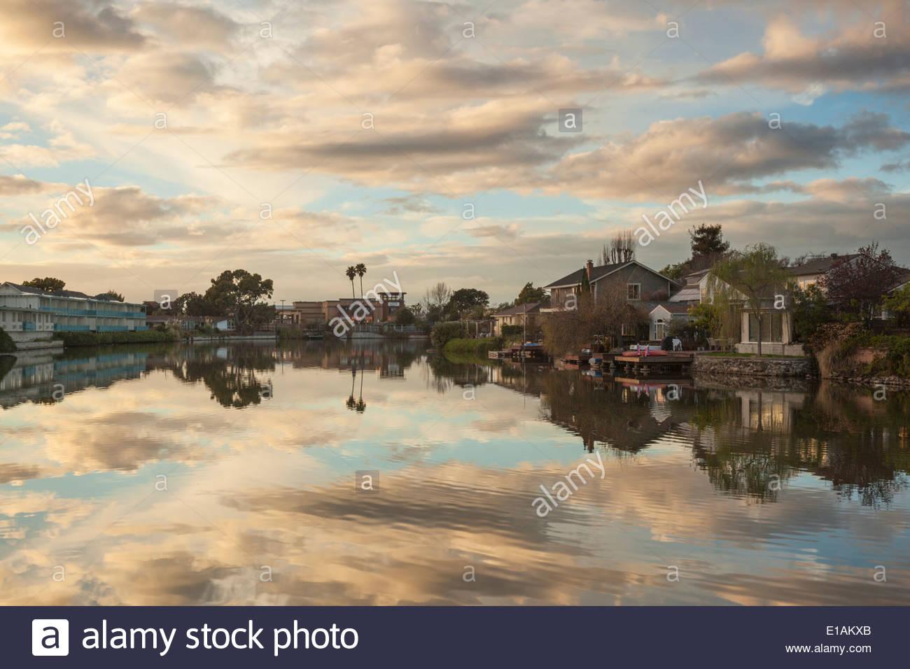South Shore Lagoon, Alameda, California - Stock Image